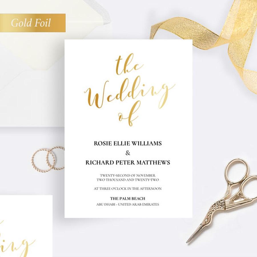 Invitations in Gold