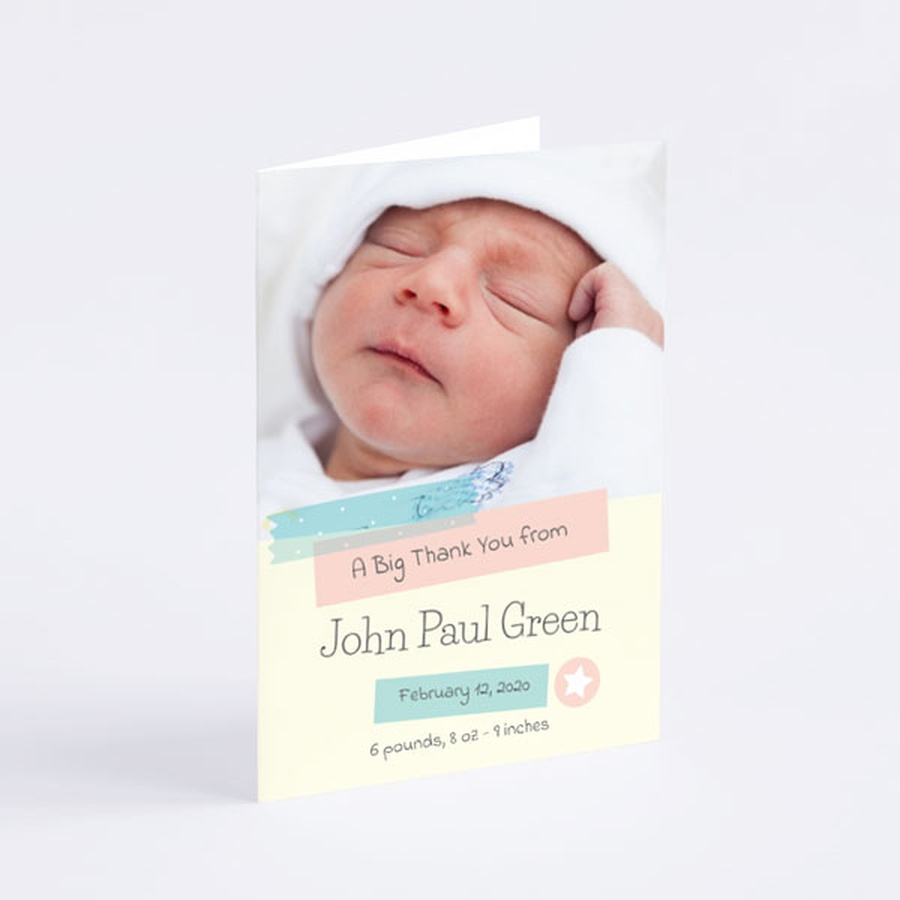 new baby thank you card  wedding invitations  baby thank
