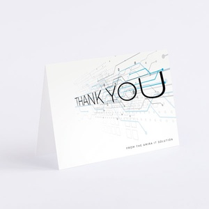 Thank You Holiday Cards Paper Favour